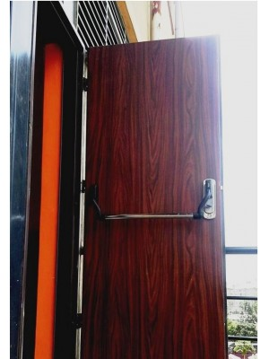 Installed High Security Emergency Exit/fire-exit door-Walnut 3 -SL2030