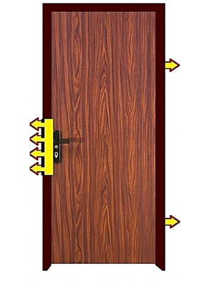 High Security Fire-rated/fire-proof  Steel Door -SL311-Walnut 3 Finish