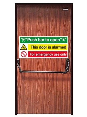 Installed Emergency Exit  High Security Steel Door with Panic bar/Pushbar