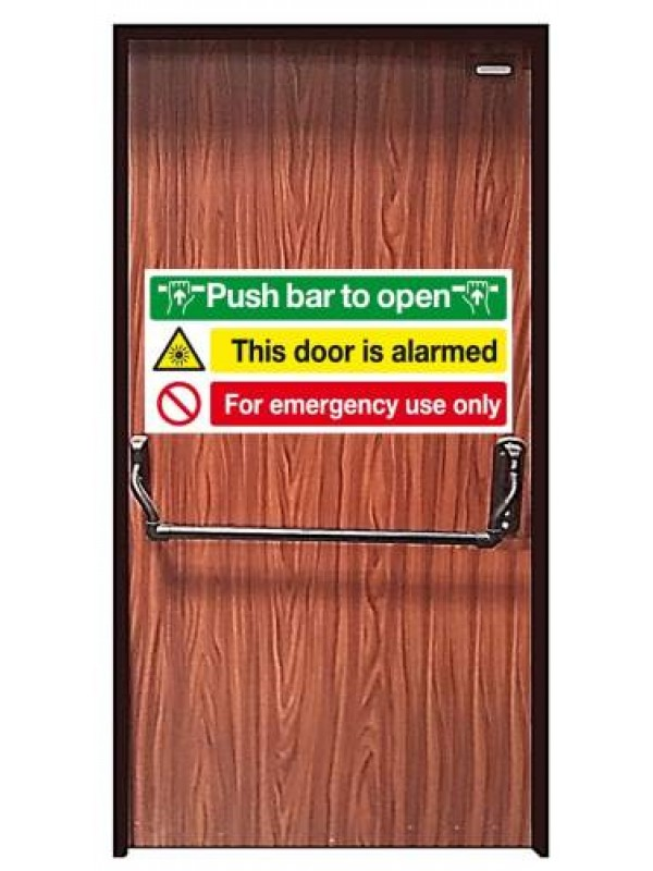 Installed Emergency Exit High Security Steel Door with Panic bar/Pushbar  sc 1 st  Leading Locks Limited & HIGH-SECURITY- DOORS