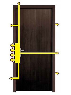 SL2030-Multi-locking High security Steel Door-Venga Finish