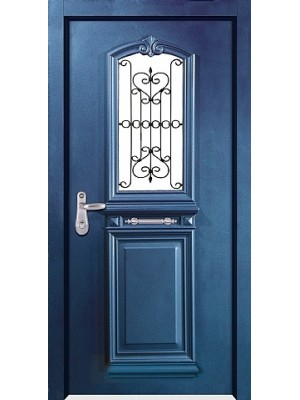 SL7001-Blue Granulated Multi-locking prestigious High Security Steel Door