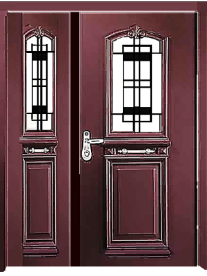 SL 7015-one+Half Door Prestigious High Security Steel Door