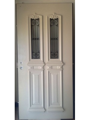 SL 7002-White Granulated Prestigious multi-locking High Security Steel Door
