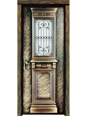 SL7010 Byzantaine Gold-Single leaf prestigious multi-locking high security steel door