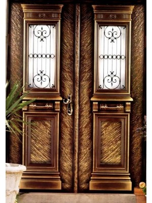 SL7010-Byzantine Gold prestigious multi-locking High Security Steel Door.