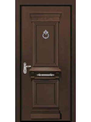 SL 7059 | Color 8016 brown granulated Prestigious High Security Steel Door