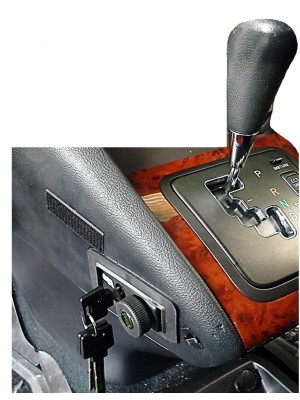 Pin Car Gear Lock installed in modern Automatic Vehicle(Lexus)