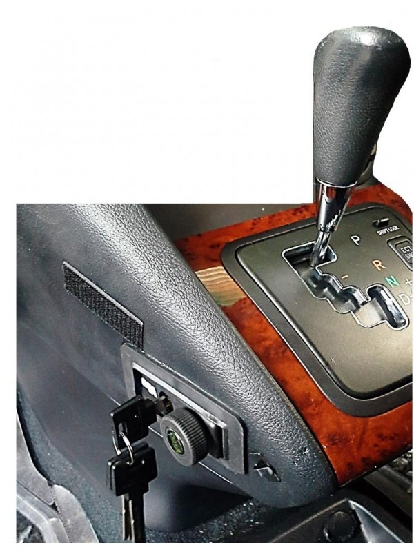 Pin Car Gear Lock installed in modern Automatic Vehicle(Lexus)