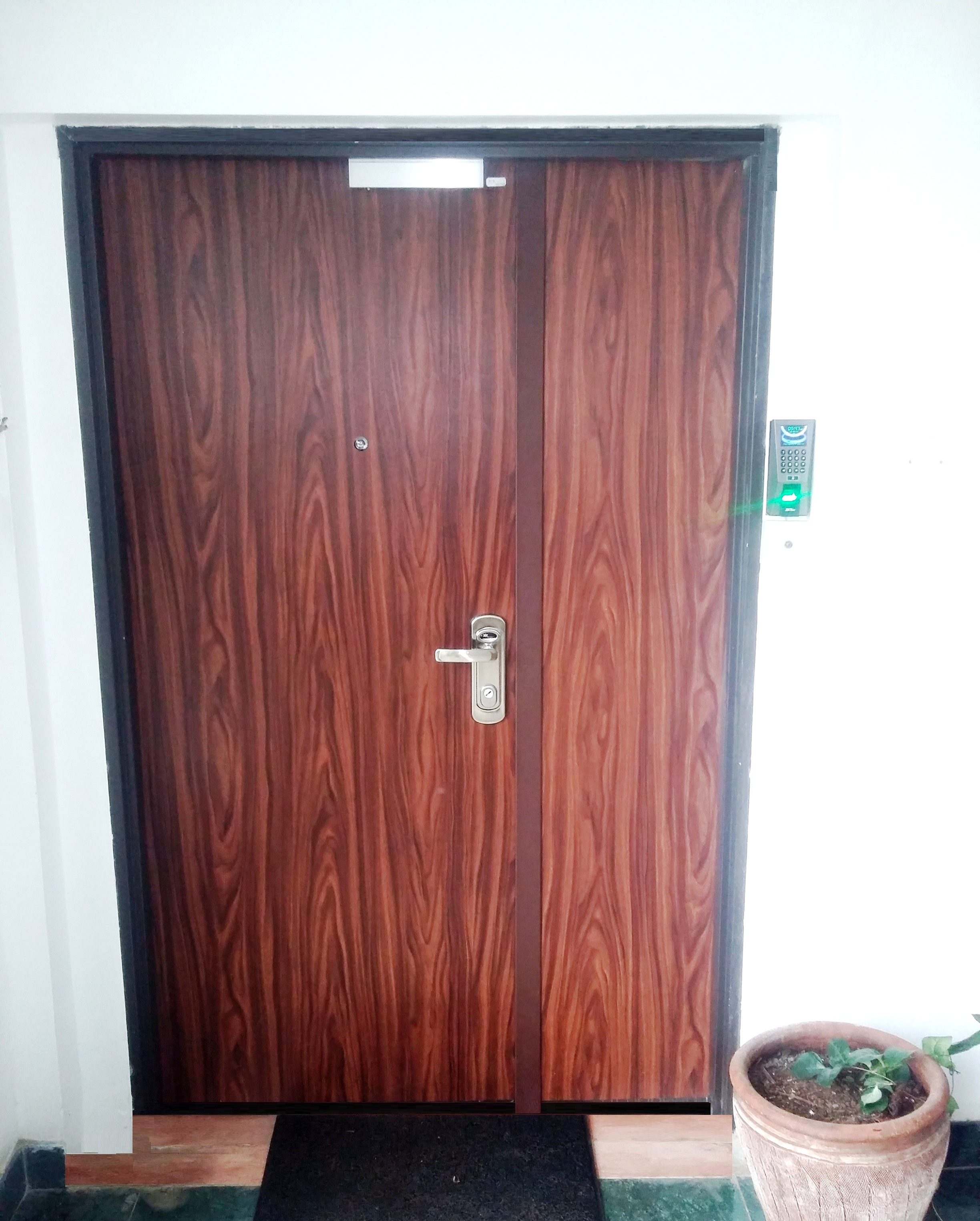 Multi Locking Burglar Proof High Security Steel Door (Installed In A Modern  Office Complete With Access System)