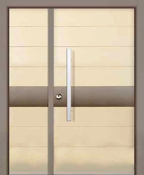 Strip   Color 441P Beige Granulated One+Half  Prestigious Multi Locking  High Security Steel Door .