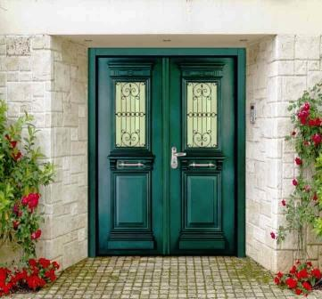 Steel Door Designs sl 7010 green granulatred double leaf prestegious multi locking high security steel door Sl 7010 Green Granulatred Double Leaf Prestegious Multi Locking High Security Steel Door